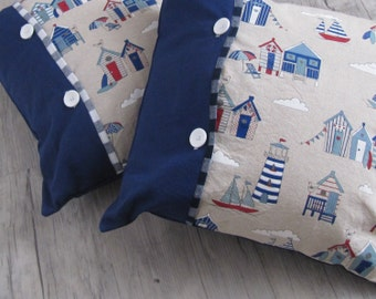 Handmade Pillow cover, Throw Pillow, Marine decor, Lighthouse in handmade, Cushion,Nautical decoration, house warming, gift,