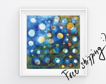 Abstract wall art Art painting Abstract painting Landscape painting Blue painting Small painting White painting Abstract art Original art