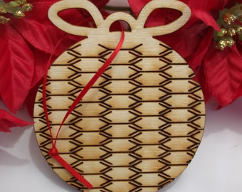 Flexible Wooden Christmas Ornaments, Circle2