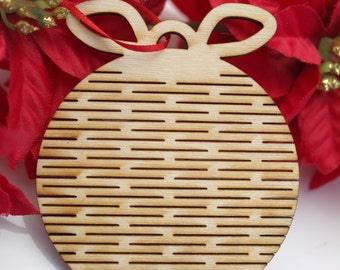 Flexible Wooden Christmas Ornaments, Circle1