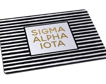 SAI Sigma Alpha Iota Striped Sorority Mousepad