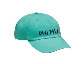 Phi Mu Simple Hat Choose Your Colors Sorority Hat