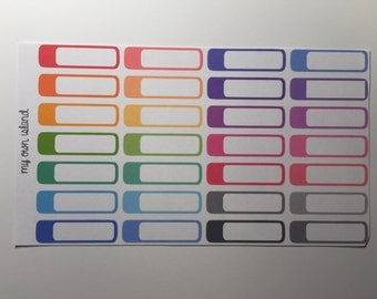 052 - Color Coding Tabs - Perfect for Planners / Scrapbooking