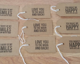 9 x  gift tags craft supplies luggage tags love tags