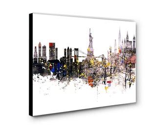 Gallery Wrap Canvas Skyline Print, Skyline Canvas Print, Skyline Print,