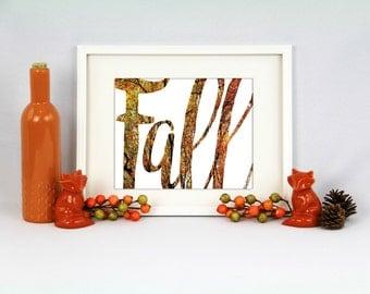 Fall Wall Print, Autumn Wall Print, Fall decor, Fall art, Fall signs, Fall decorations, autumn decor, autumn sign