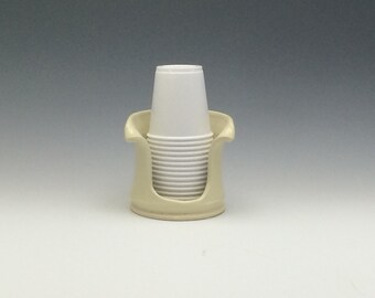 Bathroom Cup Holder 3 oz Pottery Cup Dispenser by ...