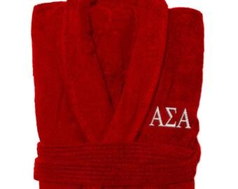 Alpha Sigma Alpha Greek Letter Bathrobe