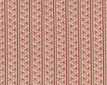 1 YD - Petite Prints (pearl/floral stripe) by French General from MODA Fabrics