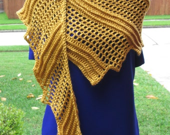 Crochet Shawl: Raptor's Wing Shawl