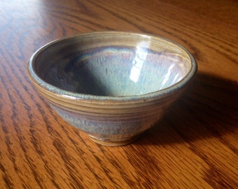 Cascading light blue offering bowl, sacred bowl, candle holder, cascading light blue condiment bowl