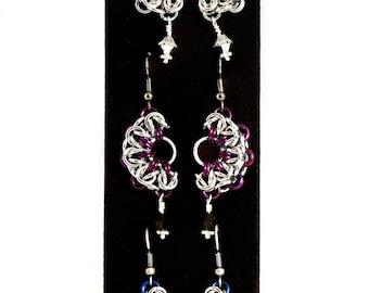 Byzantine Half Moon Earrings