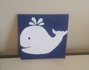 Whale silhouette nautical nursery decor