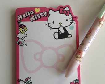 Sanrio Memo Pad Hello kitty Bow  Die Cut