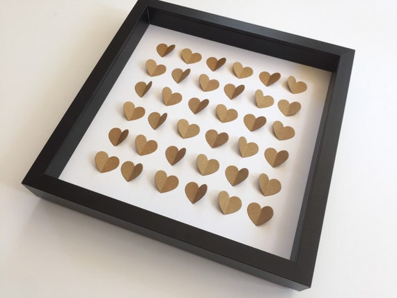 ... Love hearts/ Personalized 3D Wedding Hearts/ Anniversary gift/ FRAMED