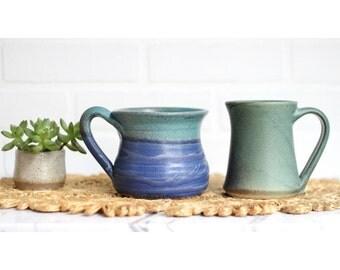 Vintage Studio Pottery Coffee Mug Collection (Set of 2)