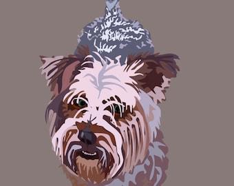 Yorkshire Terrier, Digital Art Print