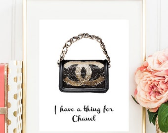 Chanel Bag//I have a thing for Chanel//8 x 10//Chanel Art Print//fashion illustration//Coco Chanel Art Print//chanel purse