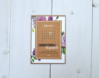 Fabulous Floral Save the Date