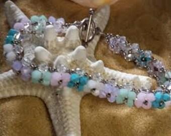 Pastel crystal bracelet (BR002)