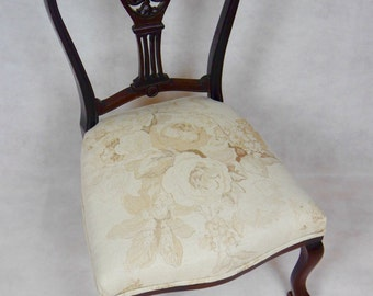 Stunning Antique Traditionally Reupholstered Chair