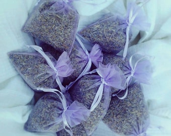 Organic Lavender Sachets, Set of 5