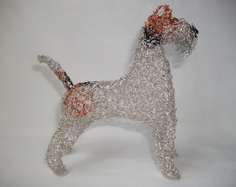 Fox Terrier wire sculpture