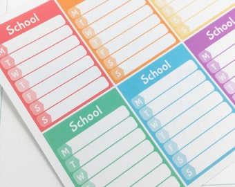 School Weekly Sidebar stickers For Erin Condren Life Planner,Personal Planner or any other Planner // Item #152