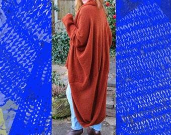 Mocha Swirl Coat Machine Knitting Pattern