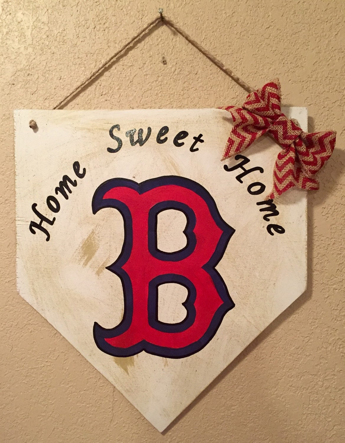 Boston Red Sox Sign Home Plate Sign Boston Red Sox Decor
