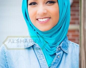 """Cotton Jersey Scarf   Shawl   Muslim Hijab   74"""" x 22""""   Women Head Wrap   Premium Quality"""