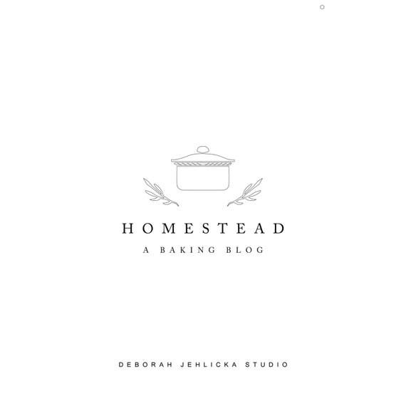 Premade Rustic Minimal Logo Pot Home Decor Ceramic Bakery Branding Boutique Cafe Logoscandinavian LogoArtisan
