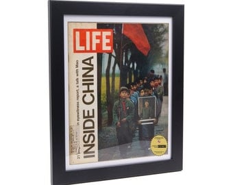 life magazine frame black frame display your vintage life magazine art in colorful frames creating your perfect manave media wall collage