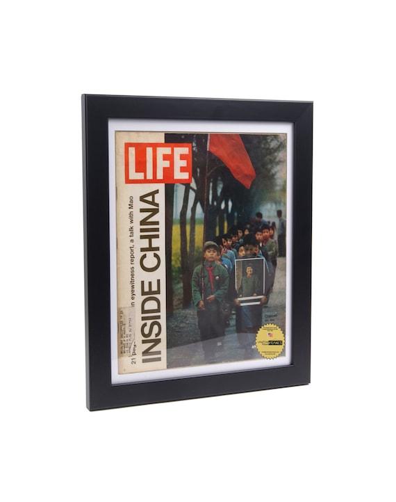life magazine frame black frame display your vintage life magazine art in colorful frames creating
