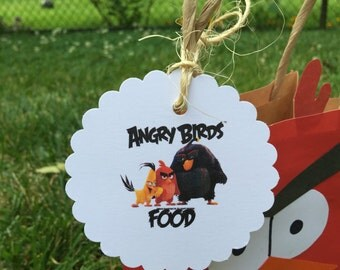 Angry Birds favor tags