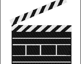 Movie Clapboard Embroidery Design