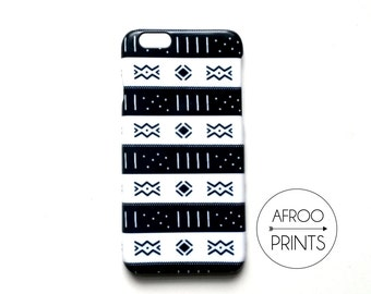 AFROOPRINTS. Bogolan XIV African printed iPhone case