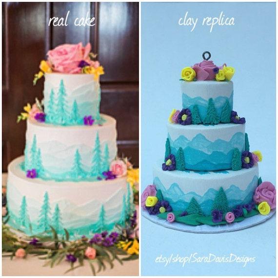 Wedding Cake Replica Wedding Cake Ornament Clay Cake