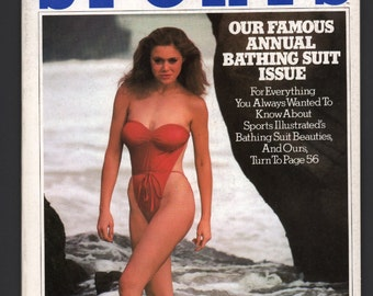 Mature Vintage Inside Sports Swimsuit Issue Man Mens Girlie Pinup Magazine : February 1981 Ex+ White Pages High Grade
