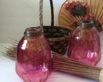 ANTIQUE CRANBERRY Glass Pear Shape Light Fixtures, 1920's Lamps, Light Bulb, Hurricane Lamp, Vintage Lighting, Vintage Lamp, Home Decor