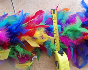 Heavy colorful chandella feather boa #FB16002