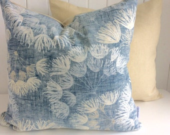 Soft Blue // Dandelion // Cushion Cover // Decorative Pillow // Throw Pillow // Taupe // Classic // Floral // Contemporary