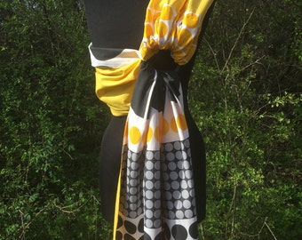 Baby Sling / Baby Ring Sling / Baby Wrap Carrier / FAST SHIPPING - 100% Super Cotton - Yellow Black White