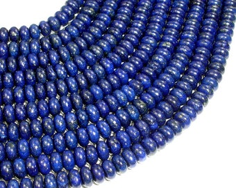Lapis Lazuli Beads,  3.5 x 6.5 mm Rondelle Beads, 15 Inch, Full strand, Approx 100 beads, Hole 0.8 mm (298053006)