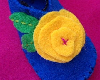 Yellow Flower Baby Shoes