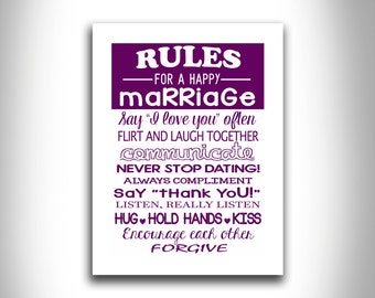 Marriage Rules Etsy