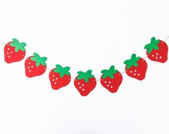 Strawberry Garland | Strawberry Banner | Strawberry Decoration | Strawberry Decor | Fruit Garland | Fruit Banner | Fruit Decor