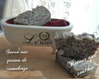 SOAP with cranberry seeds