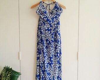 SALE Vintage Dress - Retro Dress - 70s dress - Halter Dress - Petite Dress - Jantzen