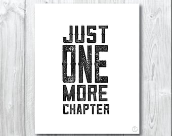 Just one more Chapter watercolour Print/wall Art- A5,20x25cm, A3